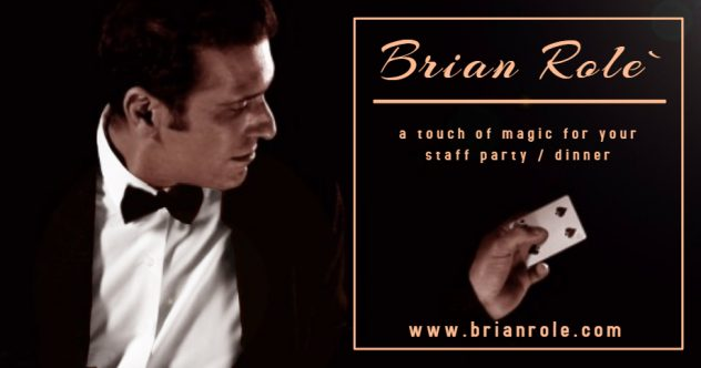 Magician for corporate events and wedding in Malta - Magician Malta Brian Role