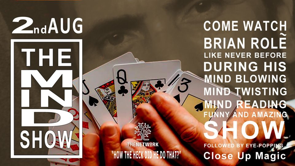The Mind Show by Brian role - Magician Malta